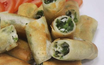 How to Cook Spinach and Cheese Spring Rolls