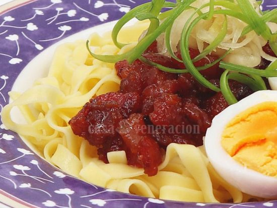 All-day Modern Filipino breakfast: Tocitlog (Tocino, Pancit at Itlog)