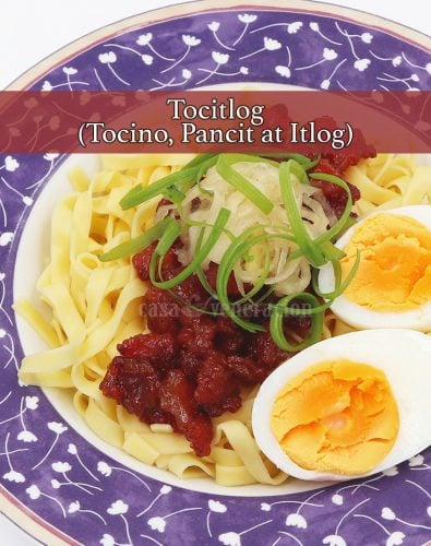 Enjoy this Easy Tasty All-day Filipino Breakfast: Tocitlog (Tocino, Pancit at Itlog)