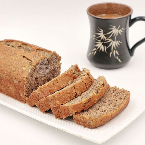 Banana Bread: Ultra Moist and Chock-full of Nuts. Best With Hot Coffee