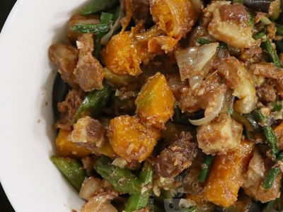 Pinakbet with Lechon Kawali Recipe