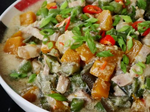 Gising-gising: Spicy Pork and Mixed Vegetables in Coconut Milk Recipe