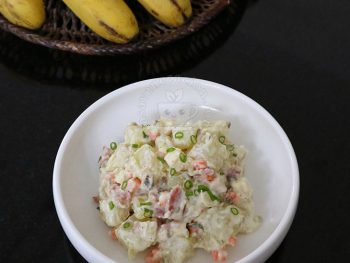 Potato Salad with Bacon and Cheese recipe