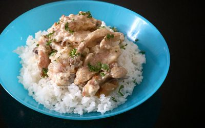 How to Cook Chicken and Mushrooms Rice Bowl A la Stroganoff