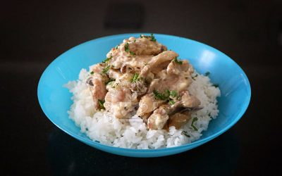 Chicken and Mushrooms Rice Bowl A la Stroganoff Recipe