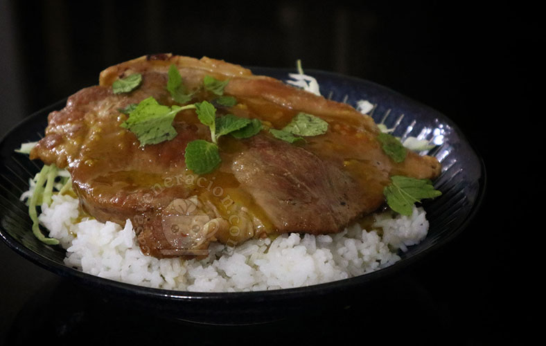 Pork Steaks with Spicy Mustard and Honey Sauce