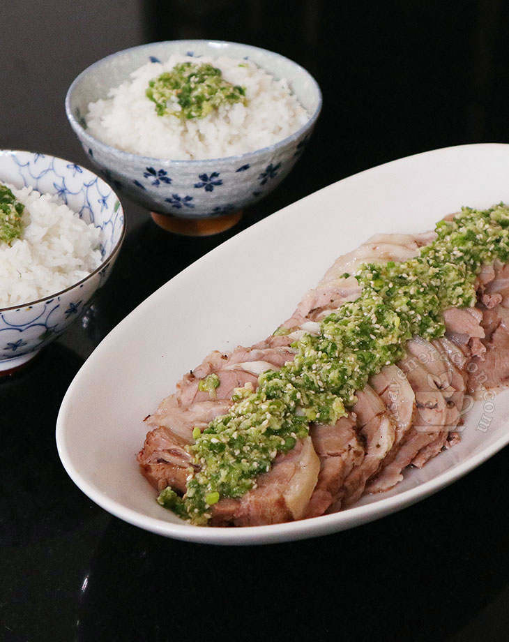 Slow Cooker Lamb with Sesame Scallion Ginger Sauce Recipe