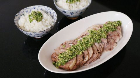 How to Cook Slow Cooker Lamb with Sesame Scallion Ginger Sauce