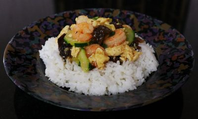 Moo Shu Shrimp Rice Bowl