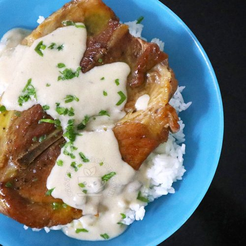 Pork Steak with Mushroom Sauce Recipe