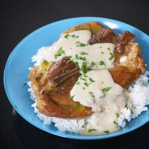 Pork Steak with Mushroom Sauce
