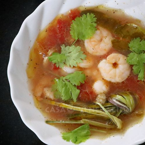 Hot and Sour Shrimp Soup a la Tom Yum Recipe