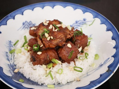 Peanut Butter Pork and Chicken Adobo