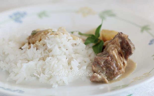casaveneracion.com Beef with coconut milk and green curry