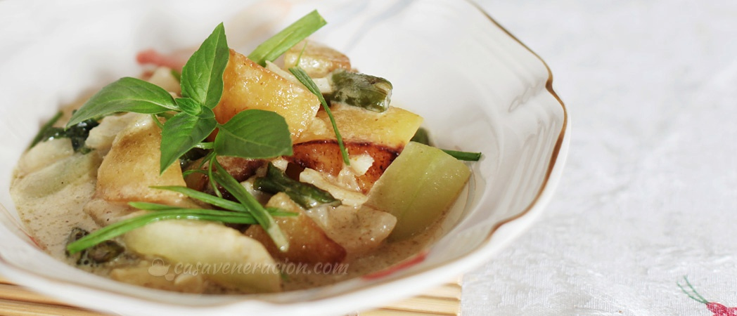 Vegetables with coconut milk and green curry   casaveneracion.com