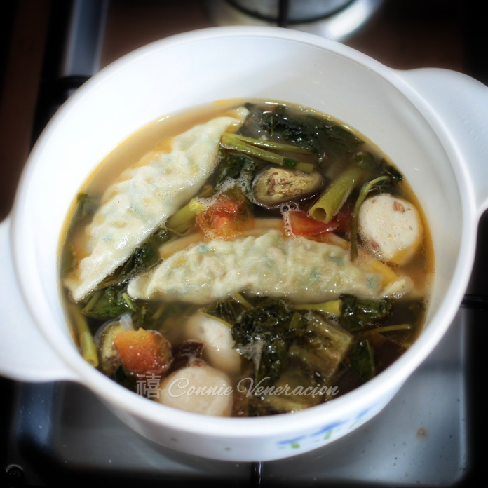 Vegan sinigang with vegetable dumplings | casaveneracion.com