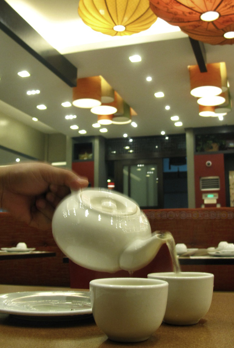 House tea at Yang Chow Dimsum Teahouse