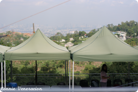 viewing deck with a panoramic view of Metro Manila