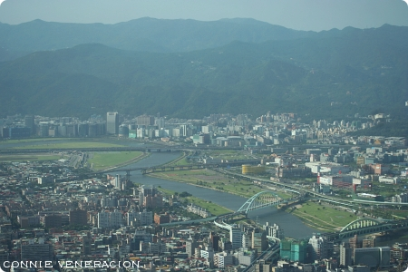 Keelung River: The view from Taipei 101 Observatory